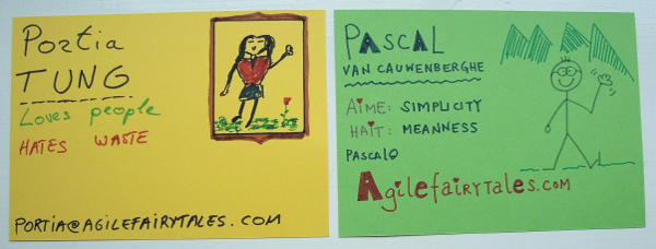 Portia and Pascal's profile cards